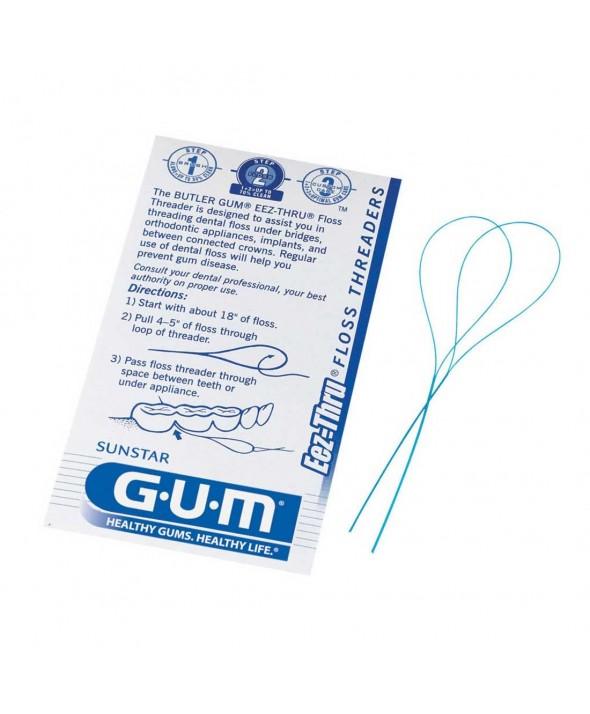 GUM® Eez-Thru® Floss Threaders 5ct/10pk
